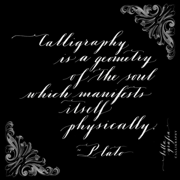 calligraphy is a geometry of the soul - Bella Grafia Calligraphy