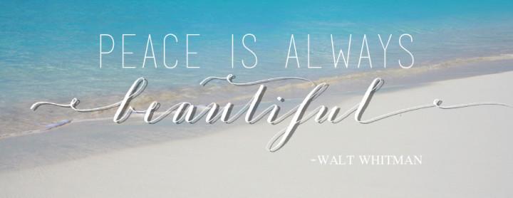 peace is always beautiful slider
