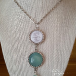 Sea necklace with aqua chalcedony
