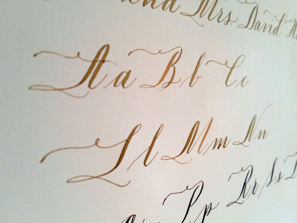 copperplate gold ink bella grafia