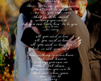song lyrics over a wedding photo bella grafia