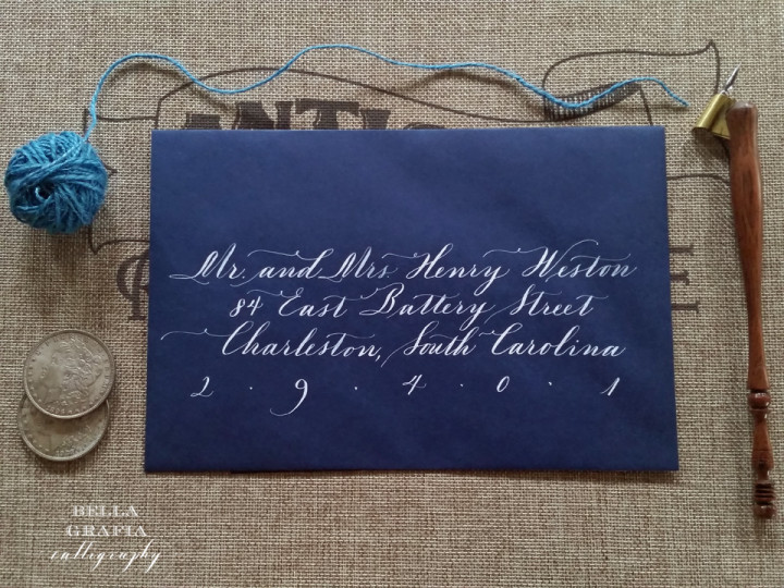 Weston envelope - Bella Grafia Calligraphy