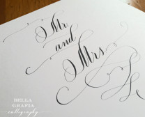 Mr and Mrs - Bella Grafia calligraphy