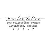 Livingston custom return address stamp - Bella Grafia Calligraphy