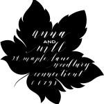 Leaf custom return address stamp - Bella Grafia Calligraphy