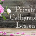 private calligraphy lesson Bella Grafia